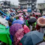 Shopping in the rain in Cherrapunji